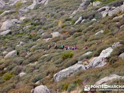 Hacia la Pradera sur de El Yelmo - rutas la pedriza; senderismo singles